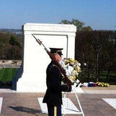 Photo taken at Tomb of the Unknowns by Chris O. on 3/27/2012
