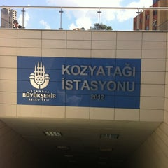 Photo taken at Kozyatağı Metro İstasyonu by Can K. on 8/18/2012