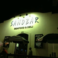 Photo taken at Sandbar Seafood, Deli, And Oyster Bar by Ferah T. on 7/10/2012