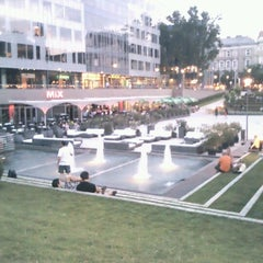 Photo taken at Nyugati tér by Marci S. on 7/7/2012
