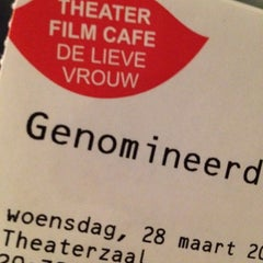 Photo taken at Theater Film Cafe De Lieve Vrouw by Ruud on 3/28/2012