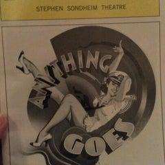 Photo taken at Stephen Sondheim Theatre by Mandy B. on 6/20/2012