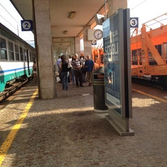 Photo taken at Stazione di Rovereto by Adham E. on 7/26/2012