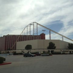 Photo taken at The Desperado Roller Coaster by Benjamin S. on 4/8/2012