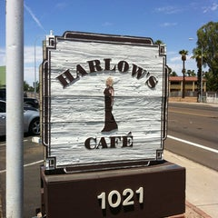 Photo taken at Harlow's Café by Jeff T. on 7/8/2012
