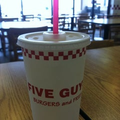 Photo taken at Five Guys by Zac J. on 3/12/2012