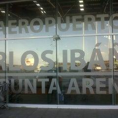 Photo taken at Aeropuerto Presidente Carlos Ibáñez del Campo (PUQ) by Manuel V. on 7/13/2012