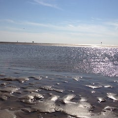 Photo taken at St. Peter-Ording Strand by Maike O. on 8/15/2012