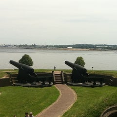 Photo taken at Fort McHenry National Monument and Historic Shrine by Kristina R. on 5/12/2012