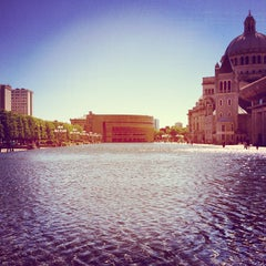 Photo taken at Christian Science Reflecting Pool by Tyler P. on 5/12/2012