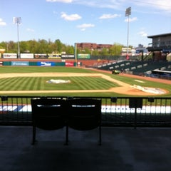 Photo taken at Northeast Delta Dental Stadium by Andrew W. on 5/7/2012