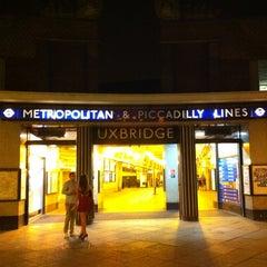 Photo taken at Uxbridge London Underground Station by Romain D. on 3/12/2012