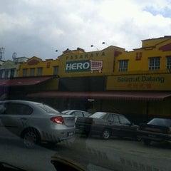 Photo taken at Pasaraya HERO (Hypermarket) by jo h. on 2/4/2012