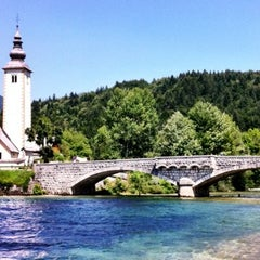 Photo taken at Bohinjsko jezero (Bohinj Lake) by Klemen on 7/19/2012