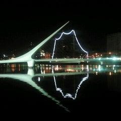 Photo taken at Puente de la Mujer by Edgardo R. on 3/2/2012