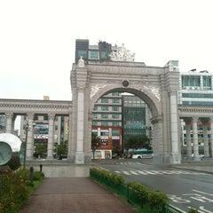 Photo taken at 경희대학교 국제캠퍼스 by HakSung J. on 8/25/2012