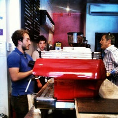 Photo taken at Gimme! Coffee by Pamela O. on 6/2/2012
