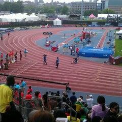 Photo taken at Icahn Stadium by Phoenix W. on 6/9/2012