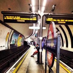 Photo taken at Clapham North London Underground Station by Fabio B. on 6/28/2012