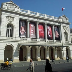Photo taken at Teatro Municipal de Santiago by Gustavo G. on 9/5/2012