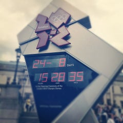 Photo taken at London 2012 OMEGA Countdown Clock by Vladi B. on 8/24/2012