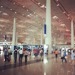 Photo taken at Beijing Capital Int'l Airport 北京首都国际机场 (PEK) by Yiwei M. on 6/24/2012