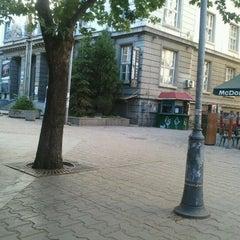 Photo taken at пл. Славейков (Slaveykov Sq.) by Valeri T. on 6/17/2012