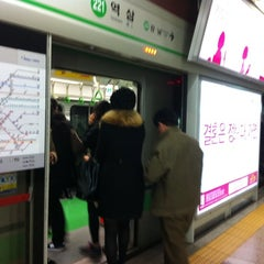 Photo taken at 역삼역 (Yeoksam Stn.) by Shungo A. on 2/27/2012