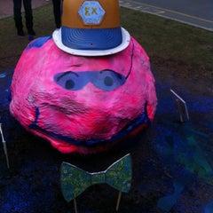 Photo taken at Boston University Greek Rock by Claire L. on 4/12/2012