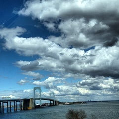 Photo taken at Throgs Neck Bridge Lookout Parking Lot by William K. on 4/12/2012