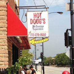 Photo taken at Hot Doug's by Peter W. on 9/7/2012