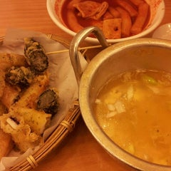 Photo taken at 국대떡볶이 by soo h. on 9/8/2012