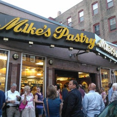 Photo taken at Mike's Pastry by Caroline S. on 5/26/2012