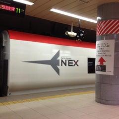 Photo taken at JR 成田空港(第1旅客ターミナル)駅 (JR Narita Airport (Terminal 1) Sta.) by Keith S. on 4/16/2012