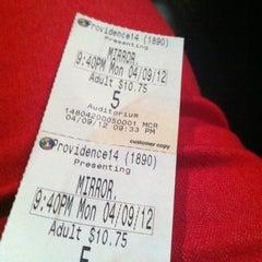 Photo taken at Regal Cinemas Providence 14 by Bre B. on 4/10/2012