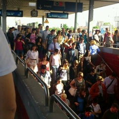 Photo taken at Bahnhof Frankfurt-Niederrad by Poovannan R. on 5/25/2012