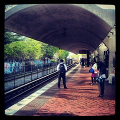 Photo taken at Brookland-CUA Metro Station by Eric P. on 5/1/2012