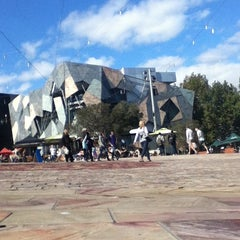 Photo taken at Tram Stop 13 - Federation Square (3/3a, 5, 6, 16, 64, 67, 72) by Andris A. on 4/11/2012