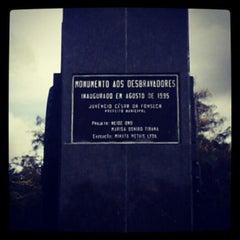 Photo taken at Monumento aos Desbravadores by Murilo D. on 4/14/2012