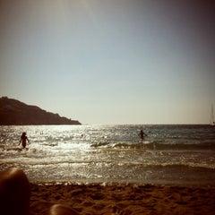 Photo taken at Παραλία Κινίου (Kini Beach) by 🐾Aggeliki B. on 7/29/2012