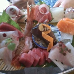 Photo taken at Sushi Taro by Winnie D. on 4/27/2012