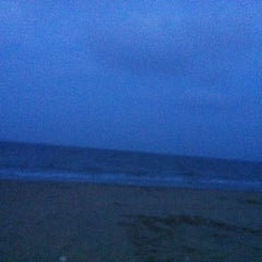 Photo taken at Hải Hoà Beach by Yen P. on 5/27/2012