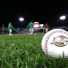 Photo taken at Clipper Magazine Stadium by Andrew W. on 6/14/2012