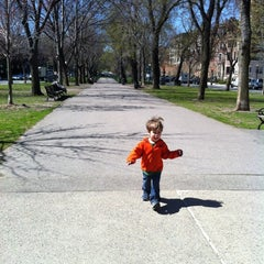 Photo taken at Commonwealth Avenue Mall by Tisha S. on 4/4/2012