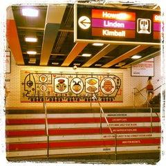 Photo taken at CTA - Belmont by Jon-o G. on 7/20/2012