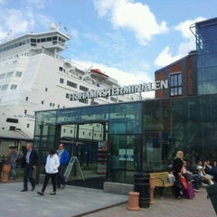 Photo taken at Frihamnsterminalen | Tallink - S:t Peter Line by Roberts N. on 6/7/2012