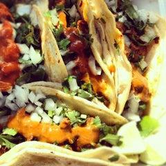 Photo taken at El Charrito Taco Truck by Murali K. on 3/22/2012