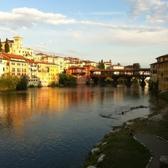 Photo taken at Ponte degli Alpini by Mattia Bizzotto on 7/15/2012