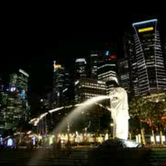 Photo taken at The Merlion (Sentosa) by Tele T. on 7/8/2012