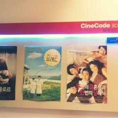 Photo taken at 씨네코드 선재 (CineCode Sonje) by Jillian L. on 7/30/2012